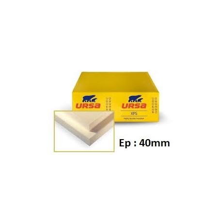 Polystyrène extrudé 1.25/0.60 - Epaisseur 40 mm