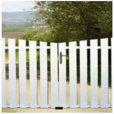 Portail PVC ajouré 3m - Cadre aluminium